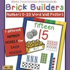 Number Posters 0–20 Snap Blocks Theme (Color Version)