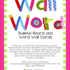 Word Wall Bulletin Board