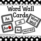 Word Wall Cards (Black Polka Dots) Editable