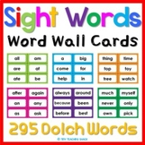 Word Wall Cards {FULL LIST of Dolch Sight Words) Polka Dot