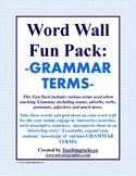 Word Wall Fun Pack - GRAMMAR TERMS!