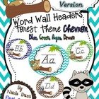 Word Wall Headers Forest Chevron D'Nealian