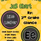 Word Wall Headers & Job Charts Chalk Circle/Brights Design