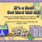 Word Wall - Its A Hoot! Owl Themed