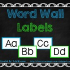 Word Wall Labels -- Blue and Green
