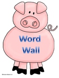 Word Wall Letters A-Z Pig Theme