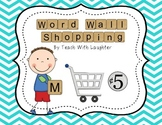Word Wall Shopping Word Work Activity