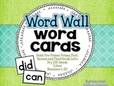 Word Wall Word Cards {200+ Words}