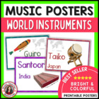Word Wall: World Instrument Cards