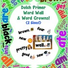 Word Wall and Word Crowns with Pictures: Dolch Primer/Kind