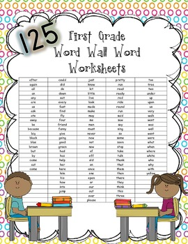 FIRST  sight Wall/Sight (125 Word Word GRADE not word worksheets Worksheets WORDS)