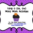 Word Work Activities/Literacy Centers for Long O (oa, ow)-