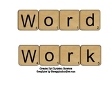 Word Work Activties