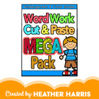 Word Work Cut & Paste MEGA PACK
