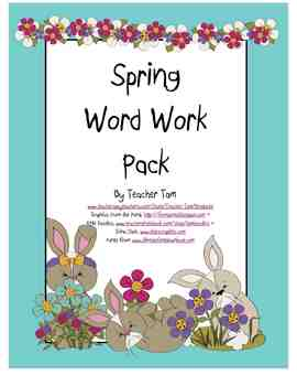 Word Work Pack--Spring Version