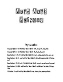 Word Work Quizzes- follows pacing guide