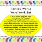 Word Work Rainbow Words-Treasures Series Sight Words