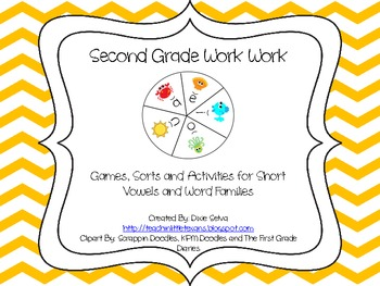 Word Work- Short Vowels and Word Families