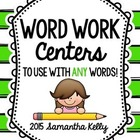 Word Work Spelling Choice -- Use with ANY words!
