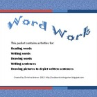 Word Work Vocabulary Packet