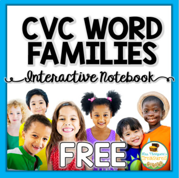 FREE CVC Word Families Interactive Notebook SAMPLE