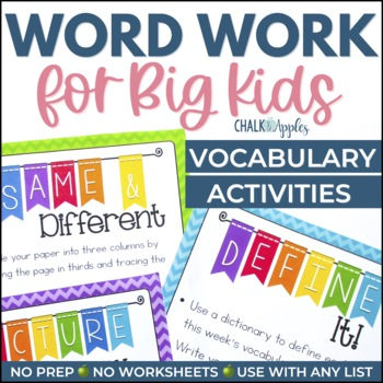 Word Work for Big Kids: Activities for Building Vocabulary