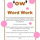 Word Work 'ow' words