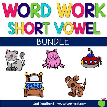 Word Work with Short Vowel Bundle