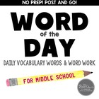 Word of the Day-CCSS Word Work for Middle School