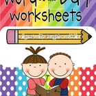Word of the Day {Sight Word Edition}