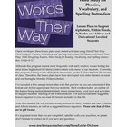 Words Their Way:  Complete Syllables and Affixes Stage Les