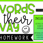 Words Their Way & General Spelling Homework