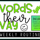 Words Their Way Weekly Routine