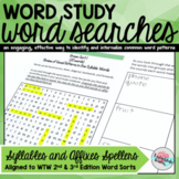 Words Their Way Word Searches Syllables and Affixes Spellers