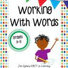 Work on Words Activities for Grades 3-5 - Working on Words