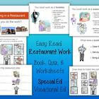 Working in a Restaurant - Short Story / Quiz / Worksheets