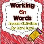 Working on Words: Activities for Word Work