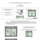 Worksheet:Changing the Viewing Window on Graphing Calculator