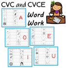 Worksheets to Practice Writing CVC Words and Sneaky Ee Words