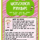 Workstation Printable Sheets