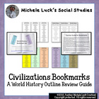 World History or Civilizations Bookmarks Course or Class O