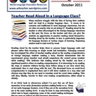World Language Classroom Teaching Activities (10/2011)