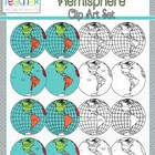 World Maps Clip Art: Western Hemisphere Globe Set!!!