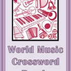 World Music Crossword Puzzle