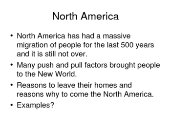 World Regional Geography North America Power Point