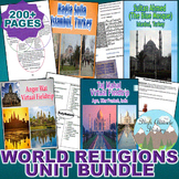World Religions Unit Bundle (World History / Comparative R