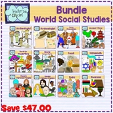 World Social Studies clip art Bundle