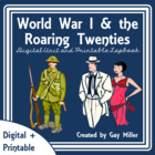 World War I & the Roaring Twenties Lap Book