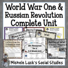 World War One & Russian Revolution COMPLETE UNIT for World