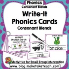 Write-It Phonics Cards for Consonant Blends